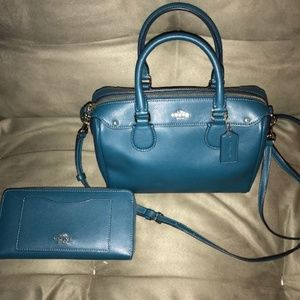 Coach Mini Bennet Handbag & Wallet - Blue/Atlantic